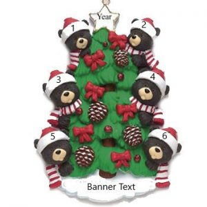 Bear Tree 6 Personalised Christmas Ornament