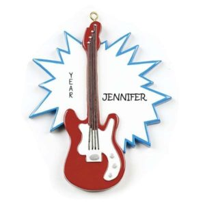 Electric Guitar Personalised Christmas Ornament