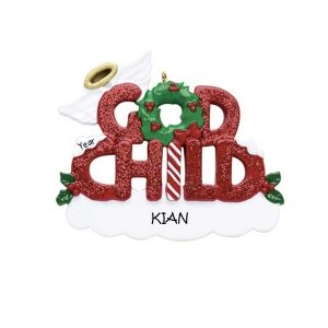 Godchild Personalised Christmas Ornament