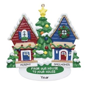 From Our House To Yours Neighbours Personalised Christmas Ornament