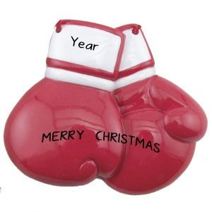 Boxing Gloves Personalised Christmas Ornament