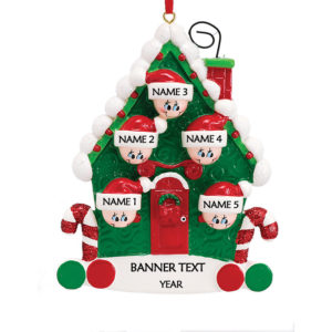 Candy Cane House 5 Personalised Christmas Ornament