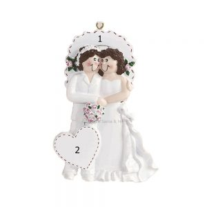 Female Married Couple Personalised Christmas Ornament