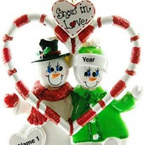 Candy Cane Love Personalised Christmas Ornaments