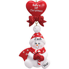 Candy Cane Baby Personalised Christmas Ornament