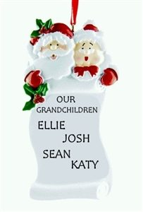 Grandparents Scroll Personalised Christmas Ornament