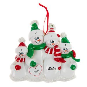 Expecting Family 4 Personalised Christmas Ornament