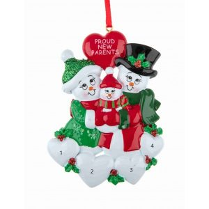 New Parents Personalised Christmas Ornament