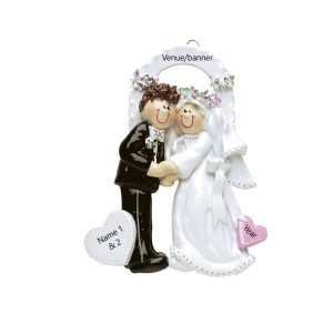 Wedding Chapel Personalised Christmas Ornament
