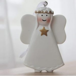 Gold Star Angel personalised christmas ornament