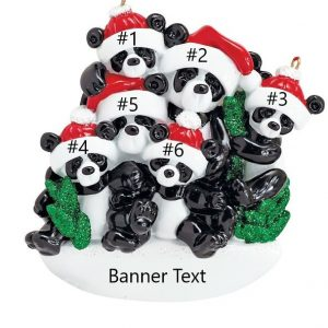 Bamboo Panda 6 Personalised Christmas Ornament