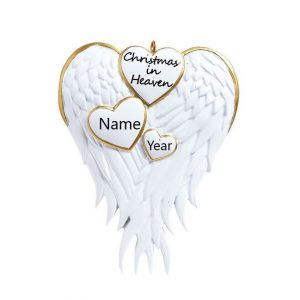 Christmas In Heaven Personalised Christmas Ornament