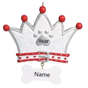 Dog Crown Personalised Christmas Ornament