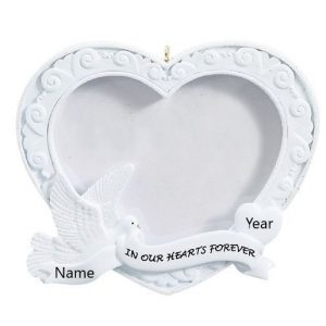 In Our Hearts Photo Frame Personalised Christmas Ornament