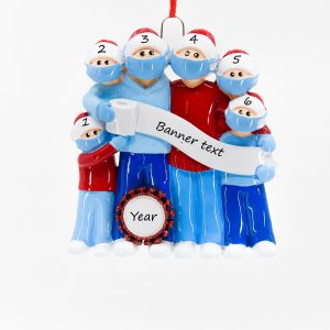 Mask Family 6 Personalised Christmas Ornament