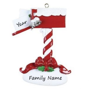 White Mantle 3 Personalised Christmas Ornament