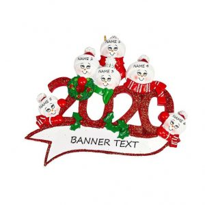 2020 Family 6 Personalised Christmas Ornament
