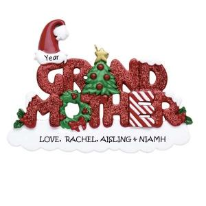 grandmother personalised ornament