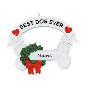 Best Dog Ever Personalised Christmas Ornament