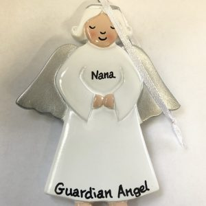 CR Angel Silver Wings Personalised Christmas Ornament