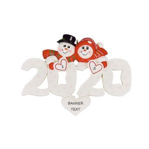 2020 Snow Couple Personalised Christmas Ornament
