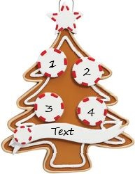 Gingerbread Tree 4 Personalised Christmas Ornament