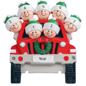 Driving Home for Christmas 7 Personalised Christmas Ornament