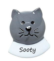 Cat add on grey with name